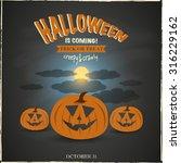 happy halloween | Shutterstock .eps vector #316229162