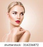 beautiful woman portrait.... | Shutterstock . vector #316236872