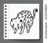 leopard doodle   Shutterstock .eps vector #316243805