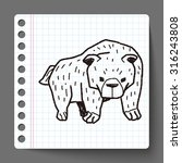 bear doodle | Shutterstock .eps vector #316243808