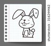 rabbit doodle | Shutterstock .eps vector #316244462
