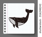 whale doodle | Shutterstock .eps vector #316248242