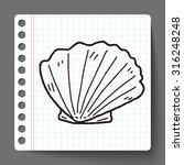 shell doodle | Shutterstock .eps vector #316248248