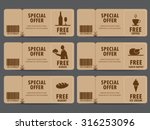 gift voucher certificate coupon ... | Shutterstock .eps vector #316253096