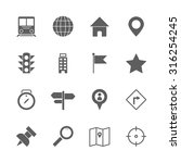 map icons set | Shutterstock .eps vector #316254245
