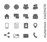 communication icons set | Shutterstock .eps vector #316254278