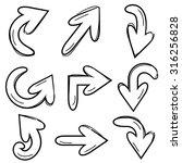 doodle arrows | Shutterstock .eps vector #316256828