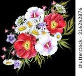 bouquet summer flowers ... | Shutterstock . vector #316262876