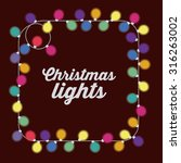 merry christmas concept with... | Shutterstock .eps vector #316263002