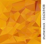 yellow polygonal mosaic... | Shutterstock .eps vector #316265438