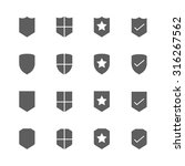 shield icons set | Shutterstock .eps vector #316267562