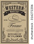 western vintage frame label... | Shutterstock .eps vector #316272206