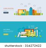 flat design modern illustration ... | Shutterstock . vector #316272422