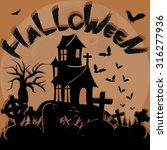 halloween poster template... | Shutterstock .eps vector #316277936