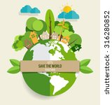 eco friendly. ecology concept... | Shutterstock .eps vector #316280852