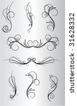 set of vector ornaments for... | Shutterstock .eps vector #31628332