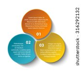 triple intersect infographic. 3 ... | Shutterstock .eps vector #316292132