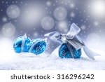 christmas blue balls and silver ... | Shutterstock . vector #316296242