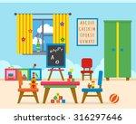 kindergarten preschool... | Shutterstock .eps vector #316297646