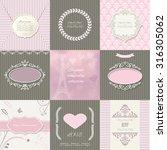 frames  cards  patterns....   Shutterstock .eps vector #316305062