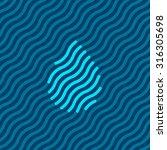 abstract water drop... | Shutterstock .eps vector #316305698
