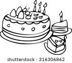 the pattern of cake design   Shutterstock .eps vector #316306862