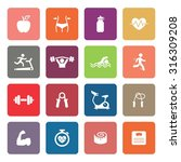 fitness icons. health icon. gym ... | Shutterstock .eps vector #316309208