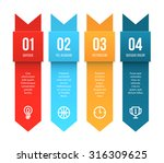 colorful vector tags with... | Shutterstock .eps vector #316309625