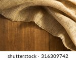 burlap hessian sacking on... | Shutterstock . vector #316309742