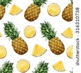 seamless pattern with hand... | Shutterstock . vector #316310738