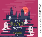 halloween party invitation card.... | Shutterstock .eps vector #316312568