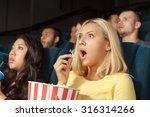 young woman looking scared... | Shutterstock . vector #316314266
