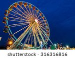 ferris wheel with outdoor long... | Shutterstock . vector #316316816