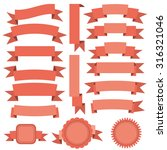 vector ribbons set | Shutterstock .eps vector #316321046