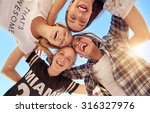 group of teenagers staying... | Shutterstock . vector #316327976