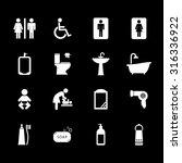 toilet icon. bathroom icon....   Shutterstock .eps vector #316336922