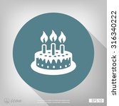 pictograph of cake | Shutterstock .eps vector #316340222