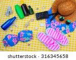 beach time summer travel kit...   Shutterstock . vector #316345658