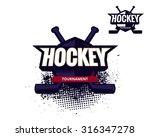 colorful hockey tournament... | Shutterstock .eps vector #316347278