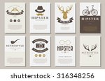 set of brochures in vintage... | Shutterstock .eps vector #316348256