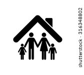 family   black vector icon | Shutterstock .eps vector #316348802
