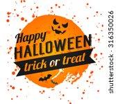 happy halloween poster on... | Shutterstock .eps vector #316350026