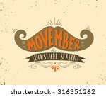 hand drawn vintage poster with... | Shutterstock .eps vector #316351262