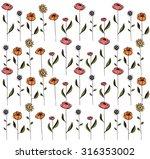 flower pattern | Shutterstock .eps vector #316353002