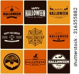 happy halloween design... | Shutterstock .eps vector #316355882