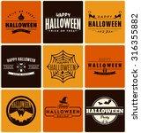 happy halloween design... | Shutterstock .eps vector #316355882