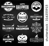 happy halloween design...   Shutterstock .eps vector #316355915