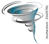 illustration of tornado  vector | Shutterstock .eps vector #31635781