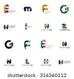 set of new universal company... | Shutterstock .eps vector #316360112