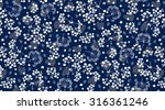 ditsy floral background  | Shutterstock .eps vector #316361246